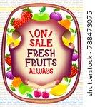 market advertising food poster...   Shutterstock .eps vector #788473075