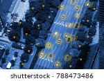 smart car  hud    iot  ... | Shutterstock . vector #788473486