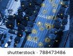 smart car  hud    iot  ... | Shutterstock . vector #788473486