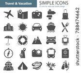 travel and vacation simple... | Shutterstock .eps vector #788474662
