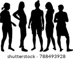 women silhouettes.vector works . | Shutterstock .eps vector #788493928