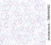 pattern of hearts. seamless... | Shutterstock .eps vector #788496982