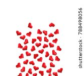 red hearts background on white  ... | Shutterstock . vector #788498056