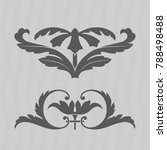 vintage baroque ornament. retro ...   Shutterstock .eps vector #788498488