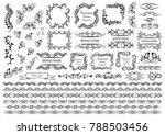 set of vector graphic border... | Shutterstock .eps vector #788503456