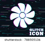 glitch effect. ventilation sign ... | Shutterstock .eps vector #788505136