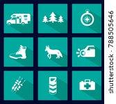 set of outdoor activity icons ... | Shutterstock .eps vector #788505646
