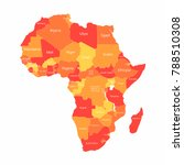 vector african map with... | Shutterstock .eps vector #788510308