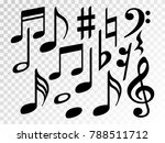 music note icons vector set ... | Shutterstock .eps vector #788511712