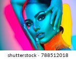 high fashion model woman in... | Shutterstock . vector #788512018