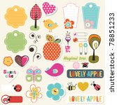 lovely elements for scrapbook | Shutterstock .eps vector #78851233