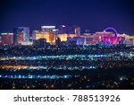 Stock photo nevada usa city of las vegas skyline and cityscape at night 788513926