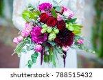 unusual wedding stylish bouquet ...   Shutterstock . vector #788515432