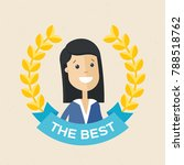 employee of the year award....   Shutterstock .eps vector #788518762