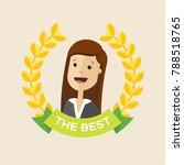 employee of the year award.... | Shutterstock .eps vector #788518765
