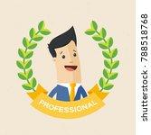 employee of the year award.... | Shutterstock .eps vector #788518768
