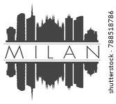 milan italy europe skyline...   Shutterstock .eps vector #788518786