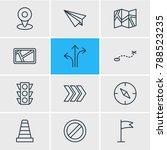 vector illustration of 12... | Shutterstock .eps vector #788523235