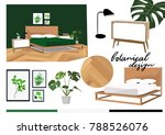 vector interior design... | Shutterstock .eps vector #788526076