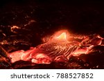lava flow from the kilauea...   Shutterstock . vector #788527852