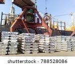aluminum ingots. transportation ... | Shutterstock . vector #788528086