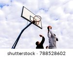 portrait of a two young sports...   Shutterstock . vector #788528602
