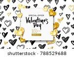 valentines day sale banner.... | Shutterstock .eps vector #788529688