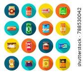 tinned goods set. food... | Shutterstock .eps vector #788530042