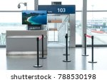 boarding gate entrance with... | Shutterstock . vector #788530198