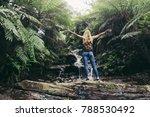 woman backpacker travelling a... | Shutterstock . vector #788530492