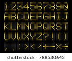 led digital alphabet. bright... | Shutterstock .eps vector #788530642