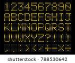 led digital alphabet. bright... | Shutterstock .eps vector #788530642