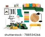 vector interior design...   Shutterstock .eps vector #788534266