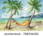tropical landscape coconut...