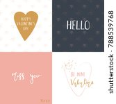 set of valentine's day cards ... | Shutterstock .eps vector #788539768