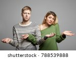 picture of funny young couple... | Shutterstock . vector #788539888