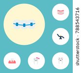 icons flat style braces ... | Shutterstock .eps vector #788543716