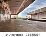 Subway station in vienna - stock photo