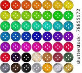colorful buttons for clothing.... | Shutterstock . vector #78855172