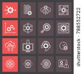 automation technology and api... | Shutterstock .eps vector #788552722