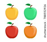 set of icons of apples   green  ... | Shutterstock .eps vector #788552926
