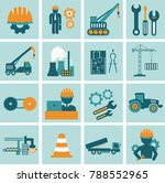 engineering icon set. engineer... | Shutterstock .eps vector #788552965