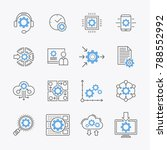 configuration options and... | Shutterstock .eps vector #788552992