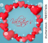 happy valentine's day card... | Shutterstock .eps vector #788557606