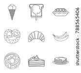 bakery dessert icons set....   Shutterstock .eps vector #788565406