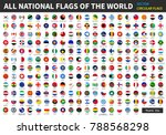 all official national flags of... | Shutterstock .eps vector #788568298