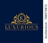 luxury vintage crest logo.... | Shutterstock .eps vector #788570872