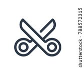scissors icon. isolated shears... | Shutterstock .eps vector #788572315
