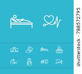 medical icons set with care... | Shutterstock .eps vector #788572795