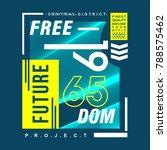 free future  typography graphic ...